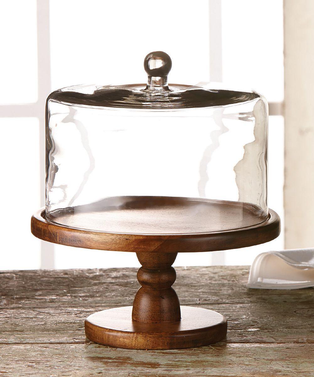 Madera pedestal plate dome zulily cake plates