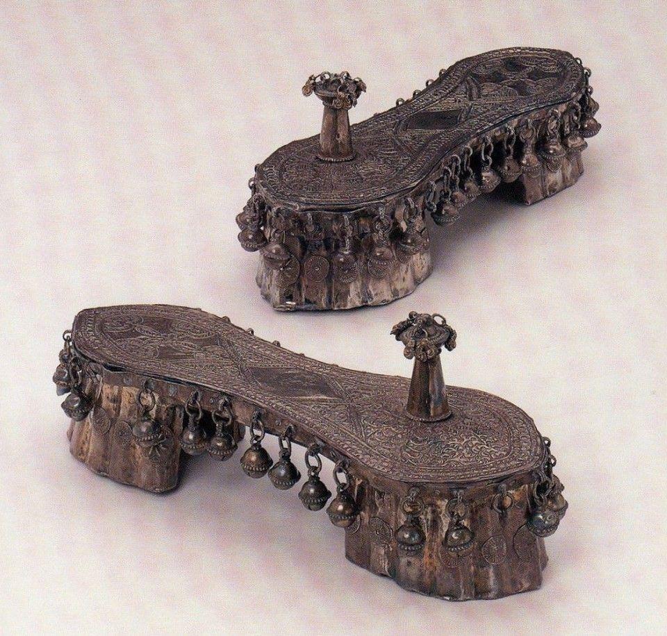 Wooden Paudaks, Indian Origin from Zanzibar 19th Century (The Bata Shoe Museum, Toronto)