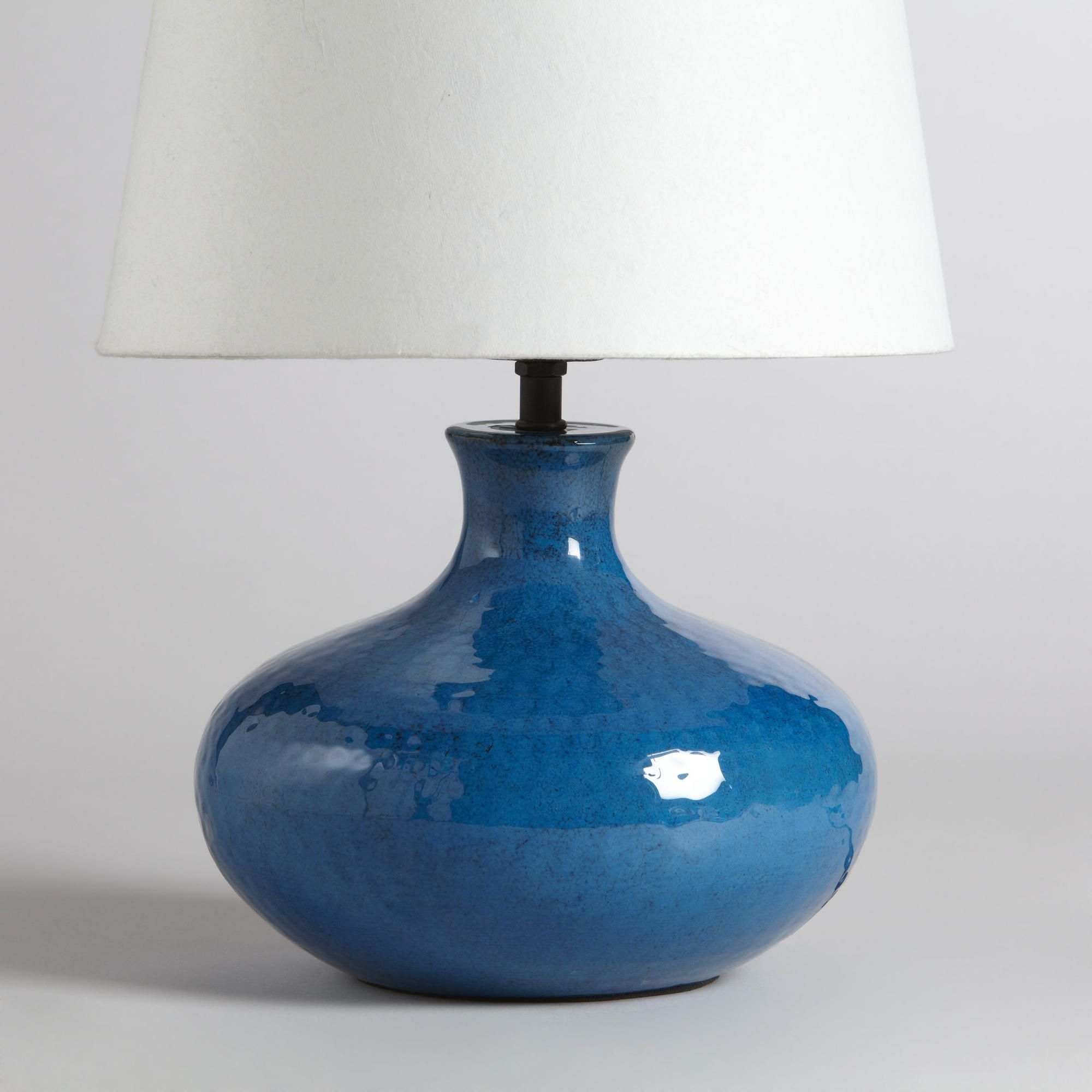 Blue potted accent lamp base world market interiors blue potted accent lamp base world market geotapseo Image collections