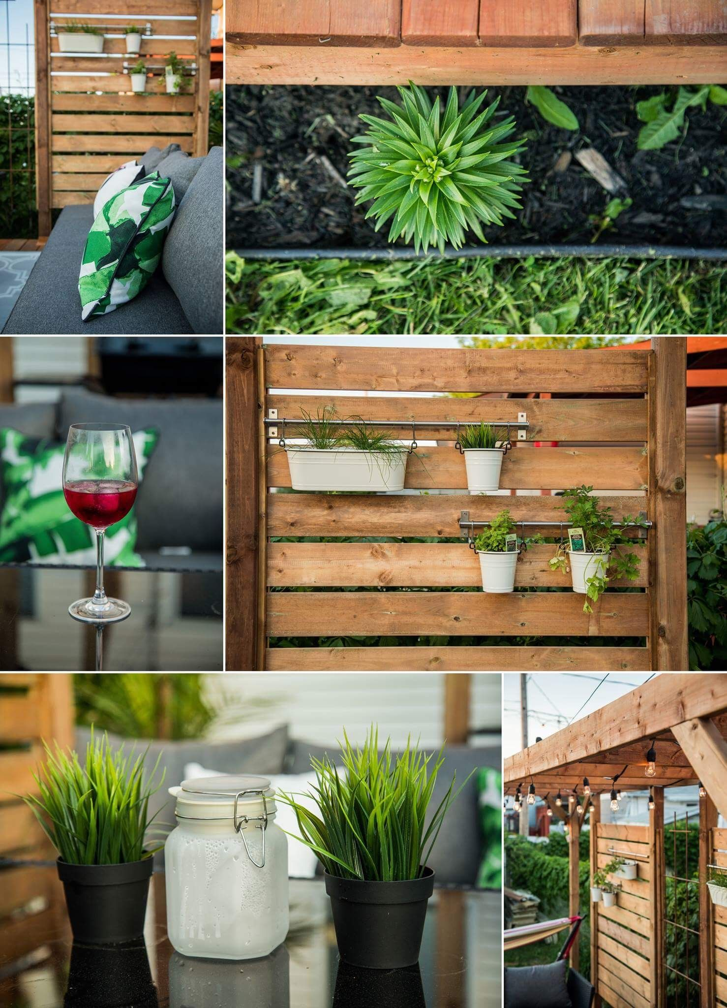 My new patio with intime wall and green wall #patio #deck ... on Green Wall Patio id=48700