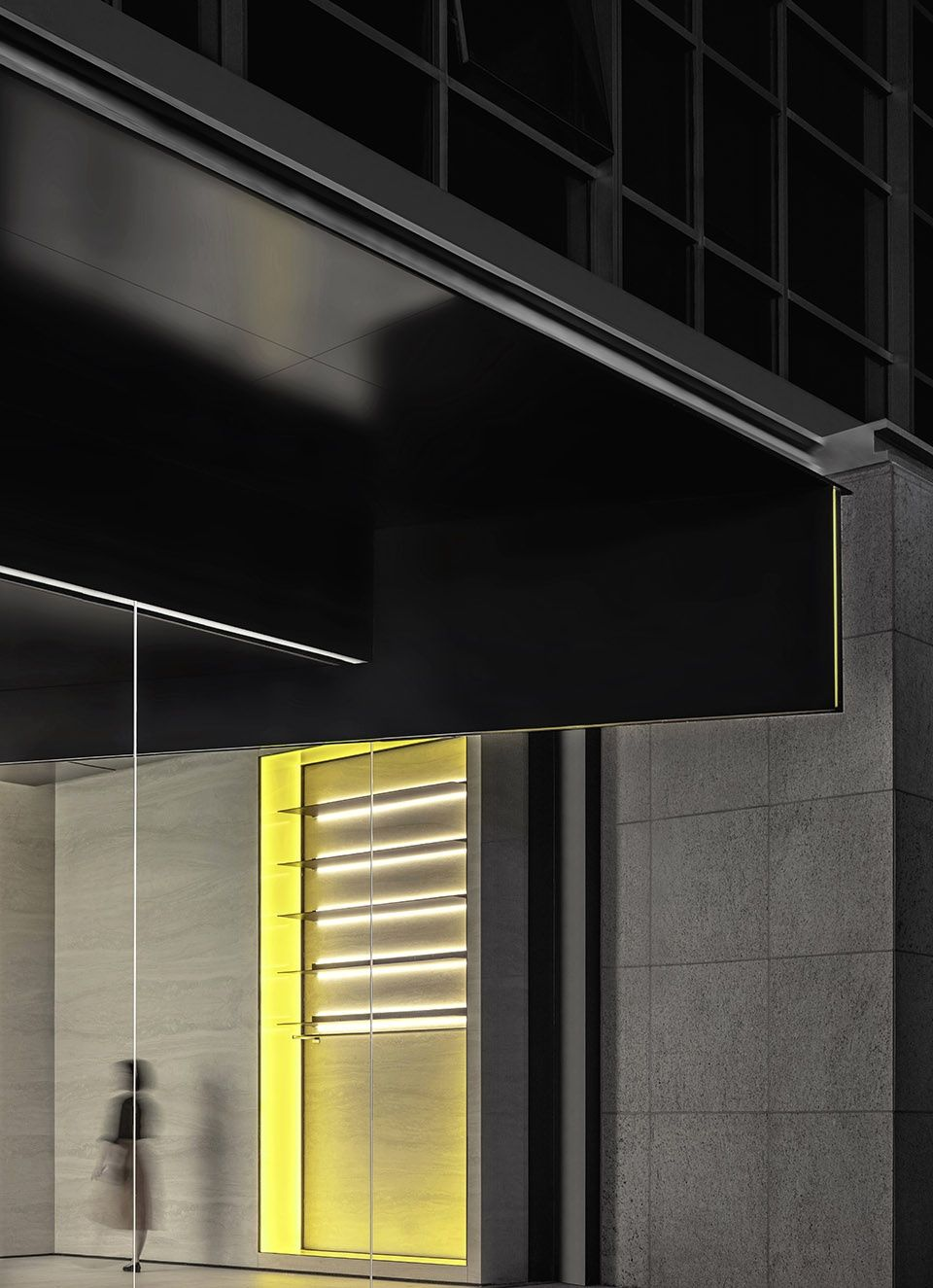 Fusion Fitness Q Plex Premium Club China By Pone Architecture In 2020 Metal Lighting Ceiling Detail Water Lighting