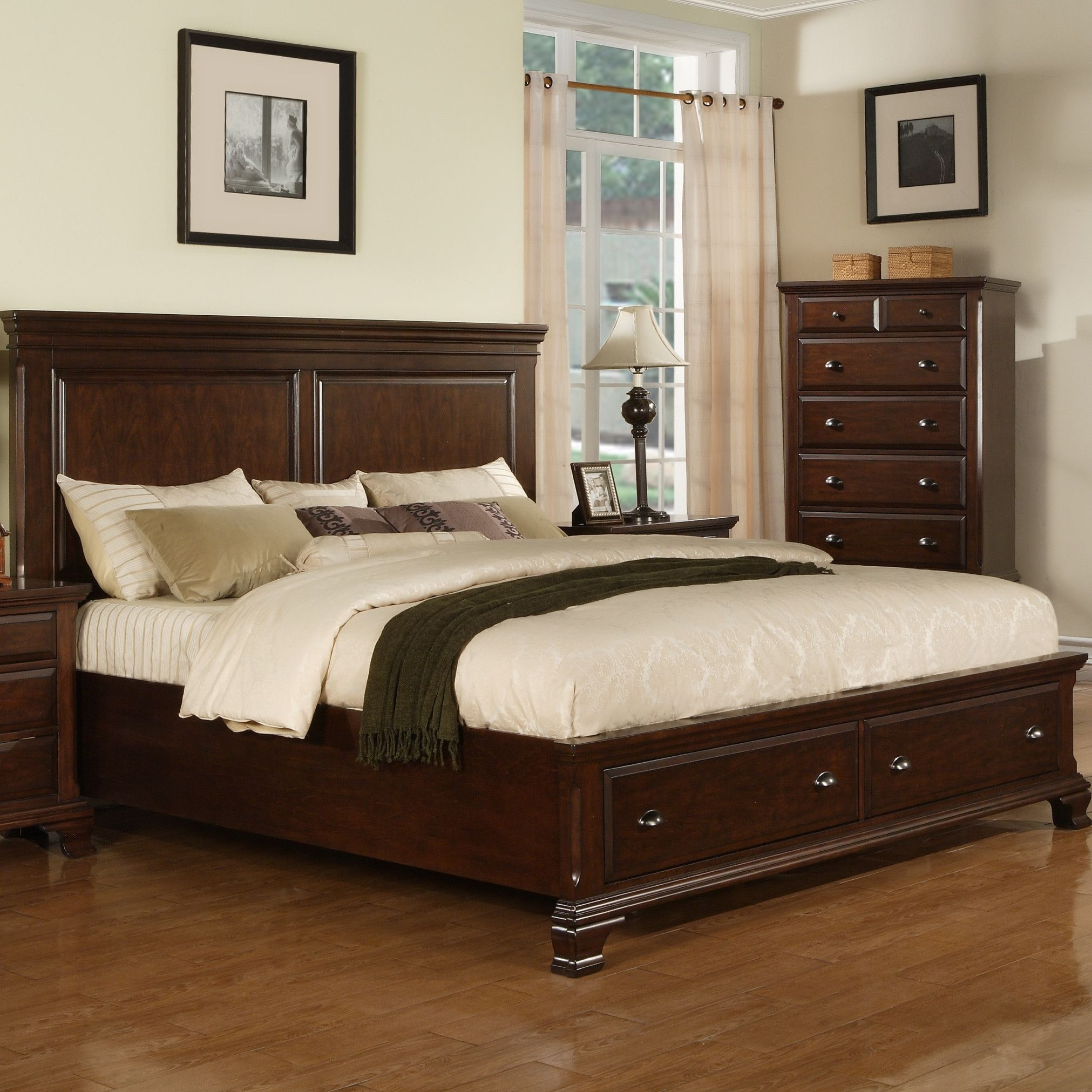 Picket house furnishings grant storage panel bed bed project