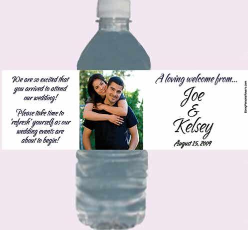 Personalized Water Bottle Labels | Wedding Water Bottle Labels ...