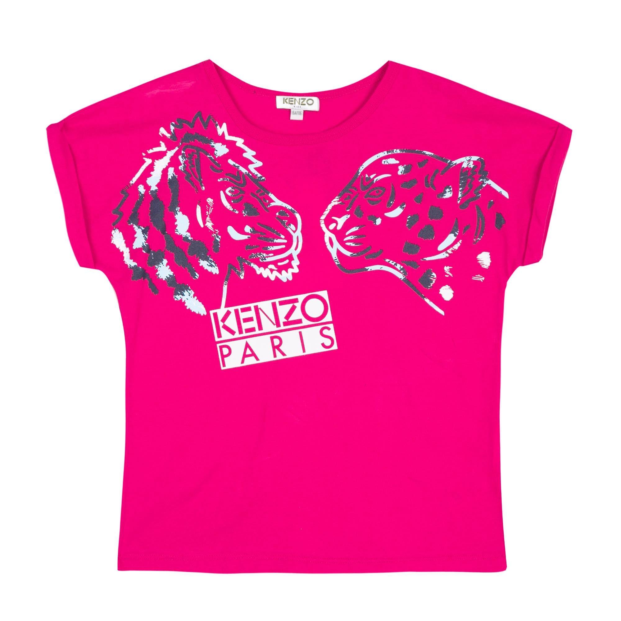 18ca8bd3 Kenzo Fuchsia Pink T-Shirt KL10148   Girls Kenzo SS18   Kenzo ...