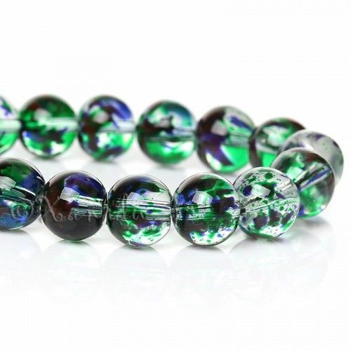 50 BEAUTIFUL HIGH QUALITY GLASS ROUND LILAC BEADS STUNNING 10mm