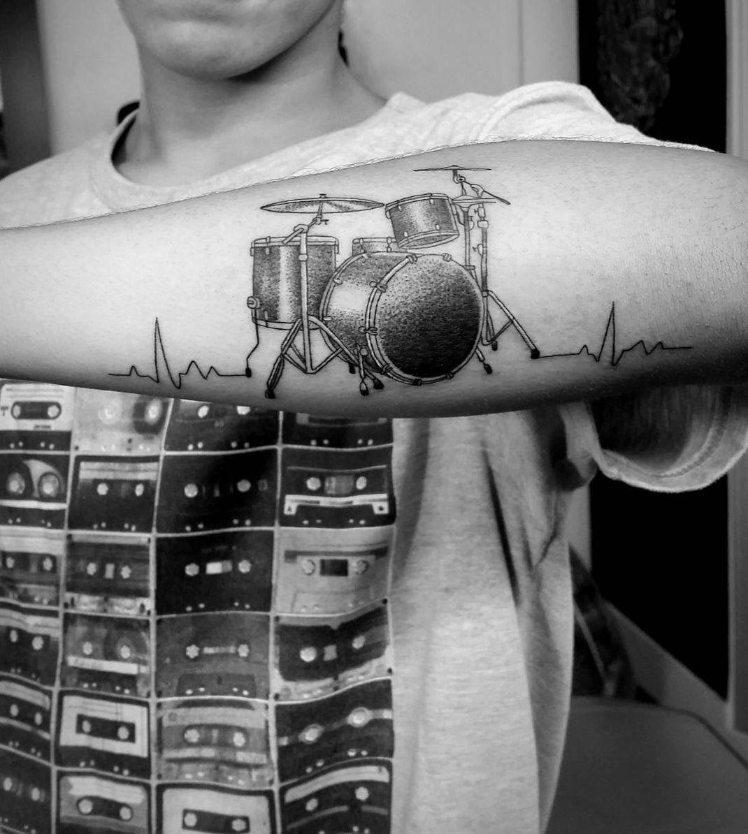 image result for drums tattoo | tattoos | pinterest | drum tattoo