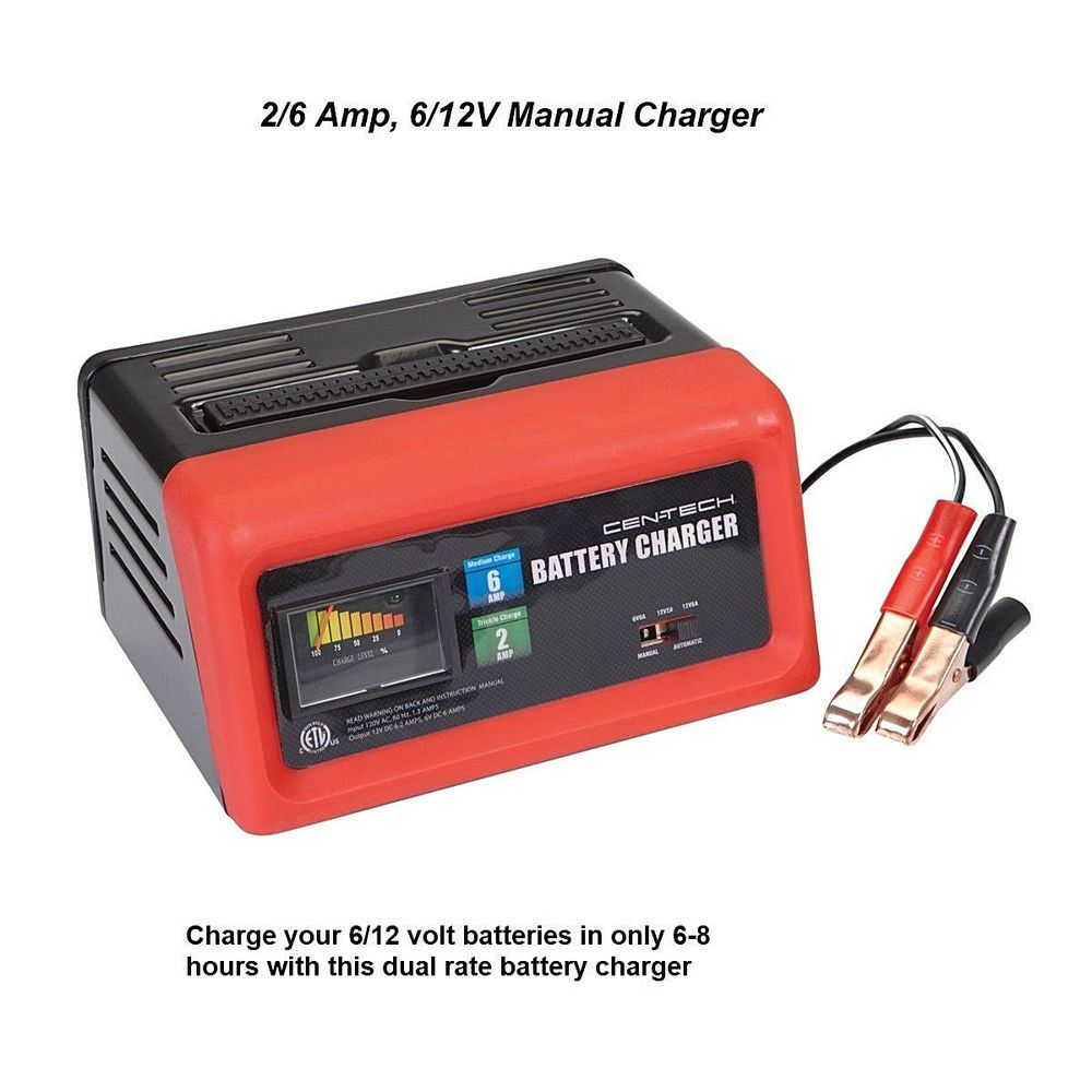 2/6 Amp 6/12V Manual Charger Battery Car Auto Truck Home