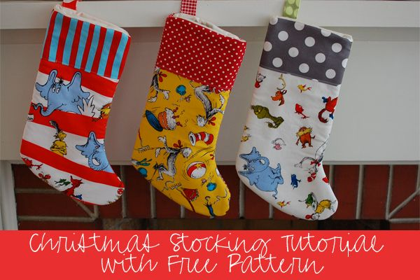 Sewing Tutorial with Free Pattern: DIY Christmas Stockings | Sewing ...