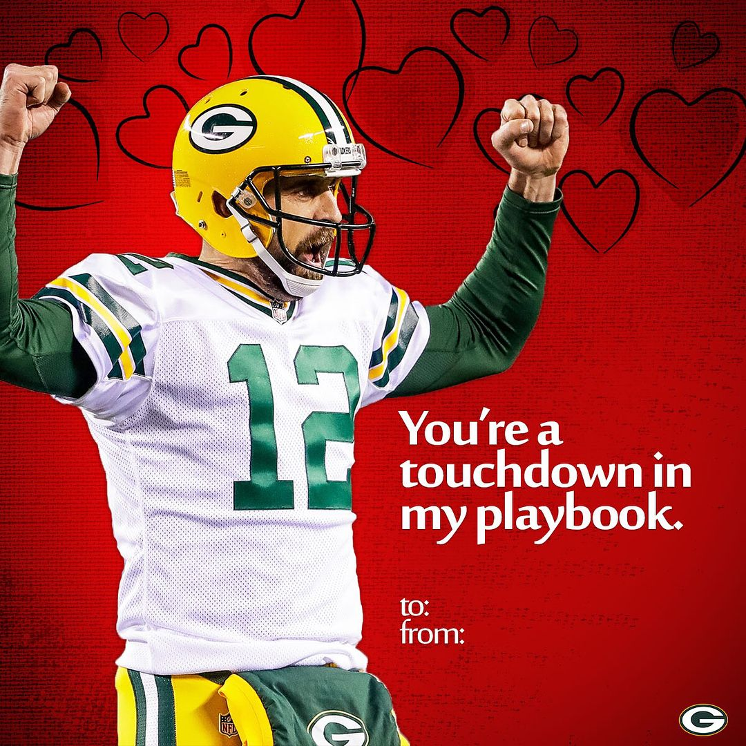 25k Likes 993 Comments Green Bay Packers Packers On Instagram Give Your Valentine A Packers Themed Card Tap Green Bay Packers Green Bay Packers