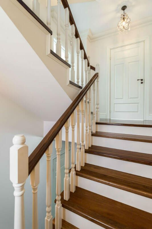 Traditional Wood Railing For Stairs Railing Design Timber