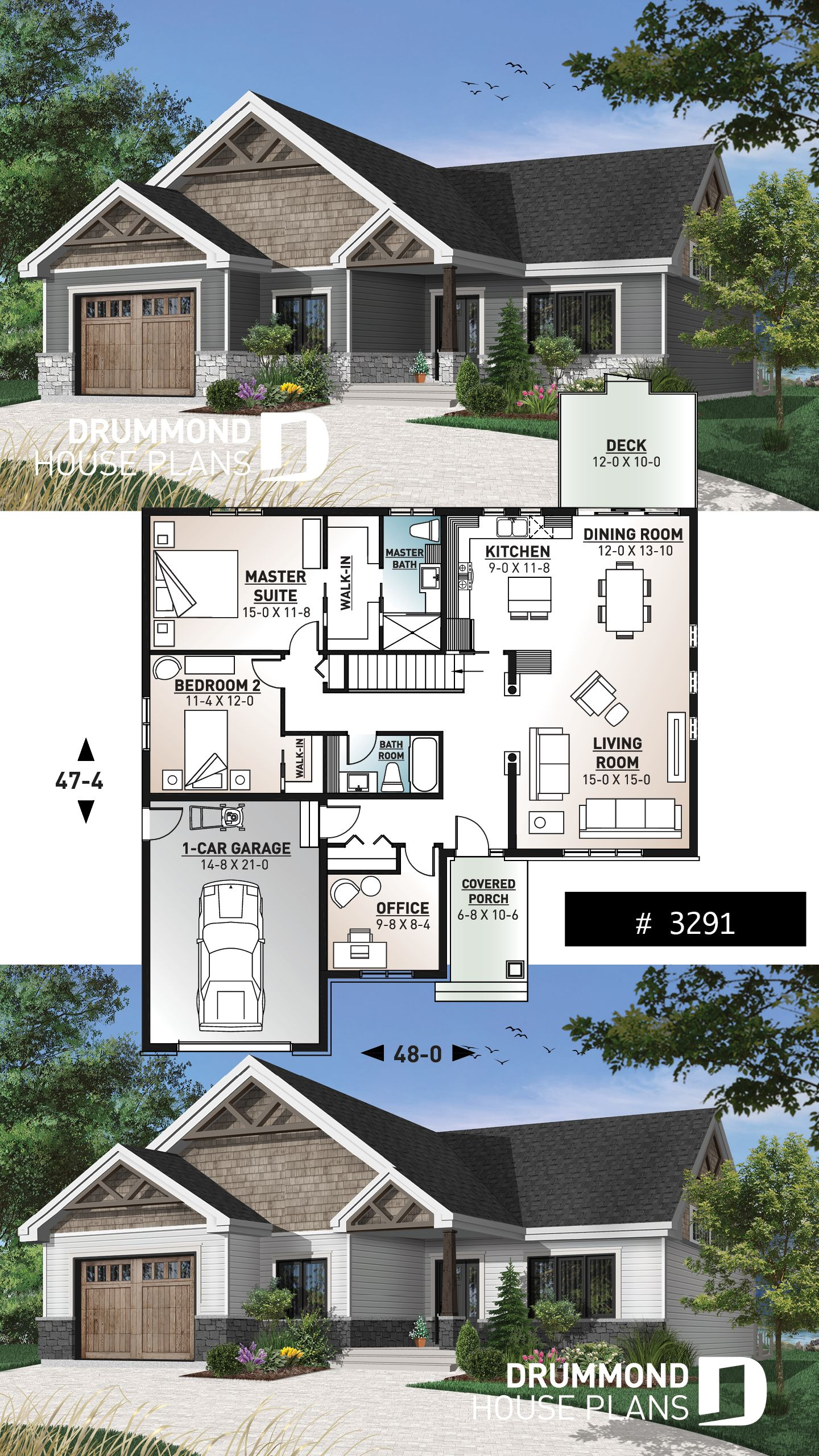 Discover The Plan 3291 Woodside Which Will Please You For Its 2 3 Bedrooms And For Its Mountain Styles Craftsman House Plans Sims House Plans Craftsman Bungalow House Plans