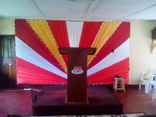 Red White And Gold Colour Church Altar Decoration