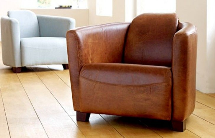 tub chair brown leather graco duodiner high reviews hudson living family room