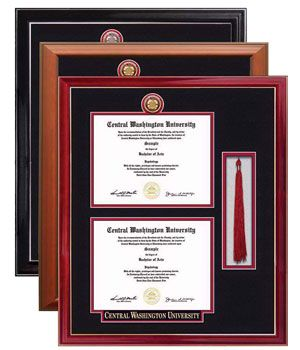 wildcat shop double diploma frame w tassel compartment - Diploma Tassel Frame