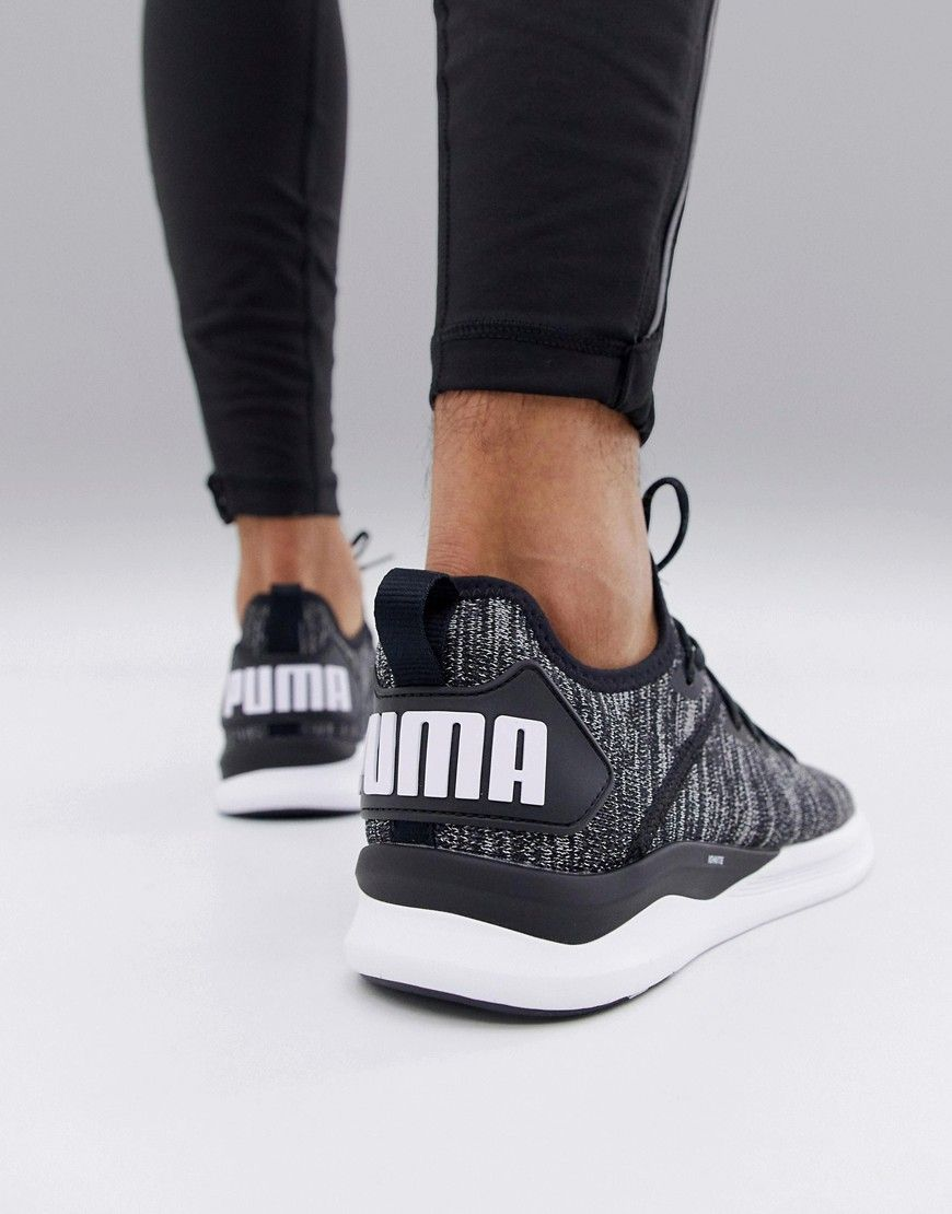 new style aa7dd 7d02d PUMA TRAINING IGNITE FLASH EVOKNIT SNEAKERS IN BLACK 190508 ...