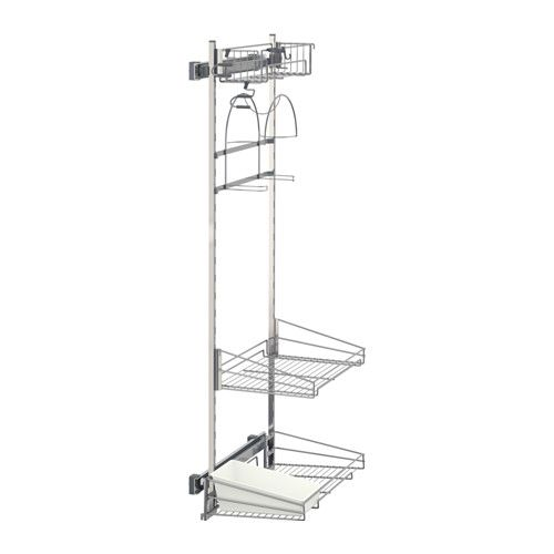 ikea utrusta pull out rack for cleaning supplies pull out organizers make it easy for you to. Black Bedroom Furniture Sets. Home Design Ideas
