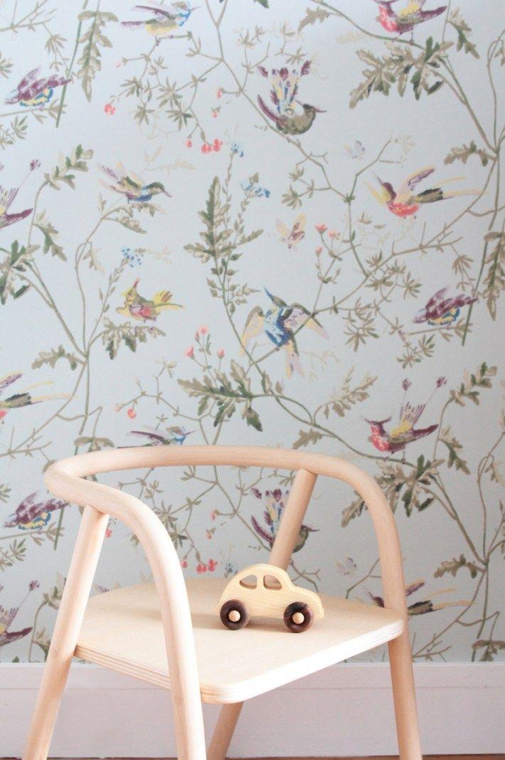 chambre-fille-vintage-retro-romantique-rose-vert-menthe | Kids rooms ...