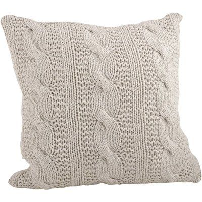 Saro Cable Knit Cotton Throw Pillow Color In 2020 With