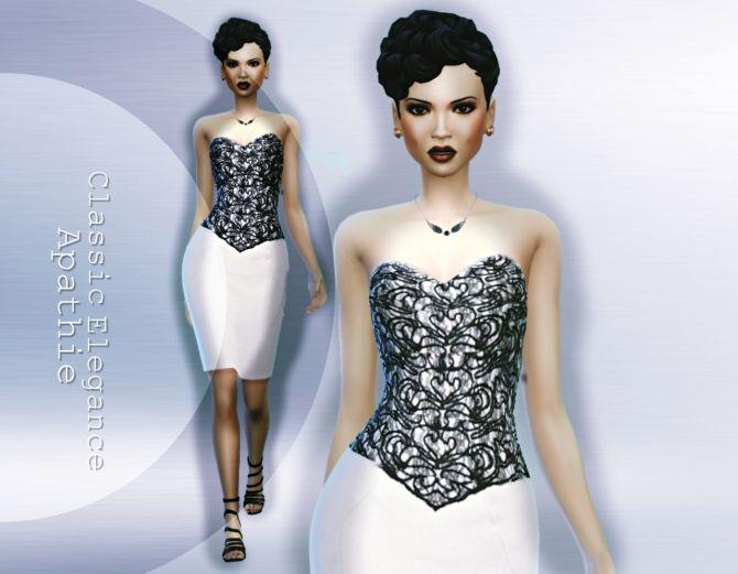 Classic Elegance dress at Apathie via Sims 4 Updates