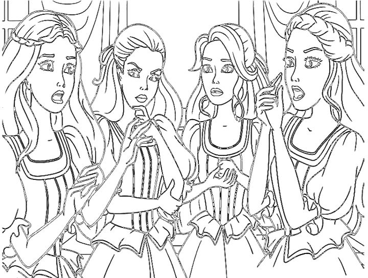 barbie doll and friends coloring pages | kids coloring pages ... - Barbie Friends Coloring Pages