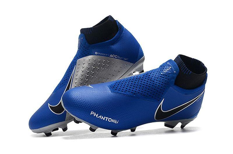 Botas de Fútbol Nike Phantom Vision Elite DF FG - Azul Plata  85a1fabc2a046