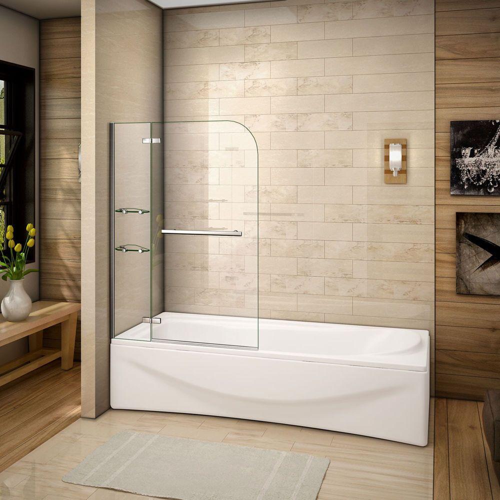 Details Zu 120 X 140 Cm Badewanne 2 Tlg Faltwand Duschwand Duschabtrennung Mit Eckeregalen Duschkabine Duschabtrennung Duschwand