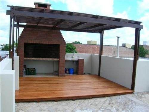 Pergolas en hierro y policarbonato o madera en c rdoba for Escalera de madera al aire libre precio