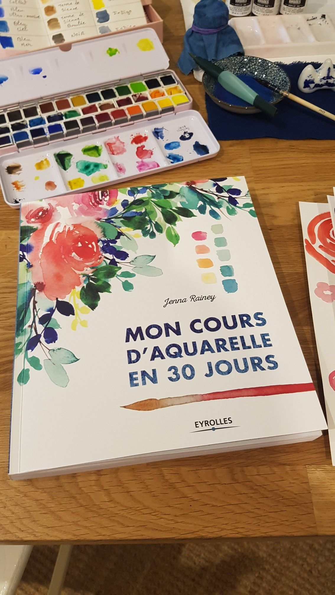 Superbe Livre A Avoir Chez Soi Mon Cours Aquarelle En 30jours