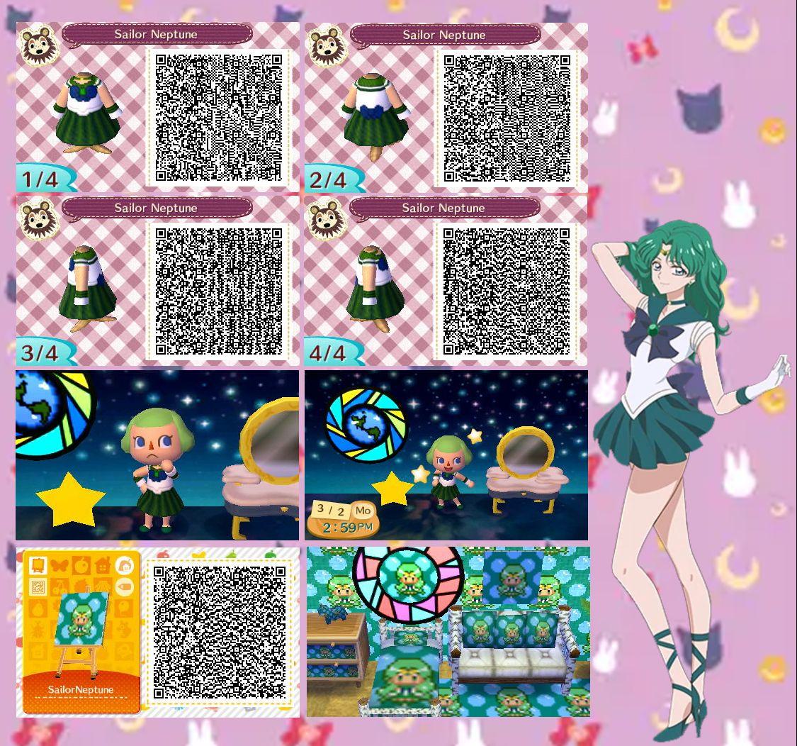 sailor moon animal crossing qr codes hair