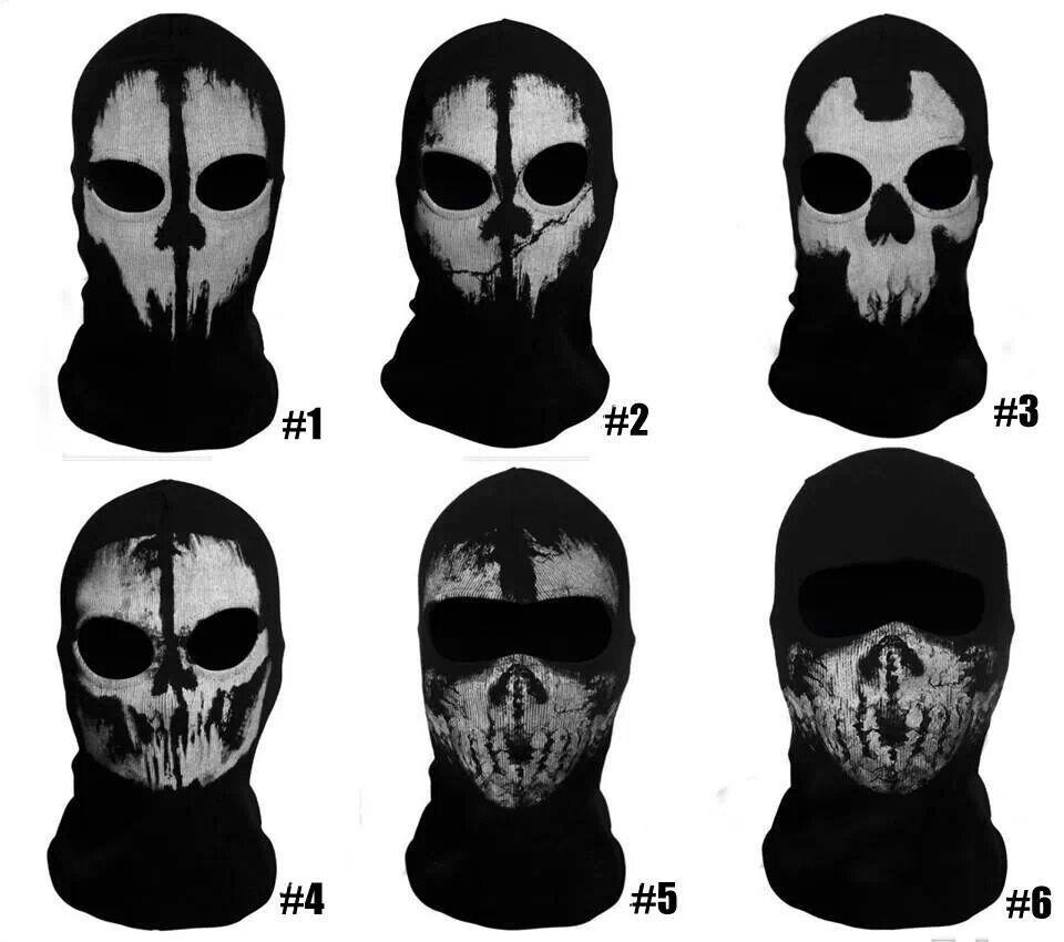 Call Of Duty 10 Cod Ghosts Logan Balaclava Ski Skull Hood: Mascaras Black Ops Ghost