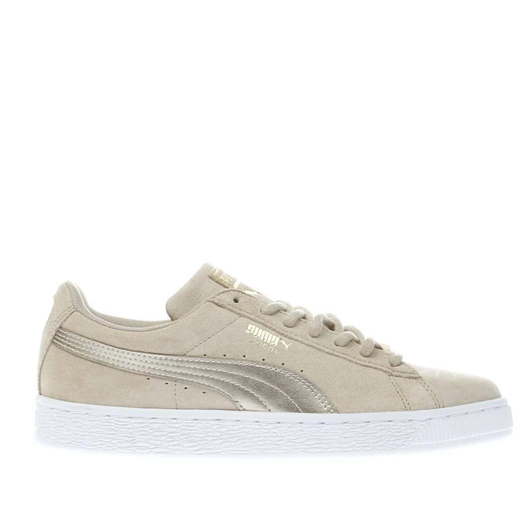 separation shoes ddac4 27933 womens beige puma suede classic met safari trainers | schuh ...