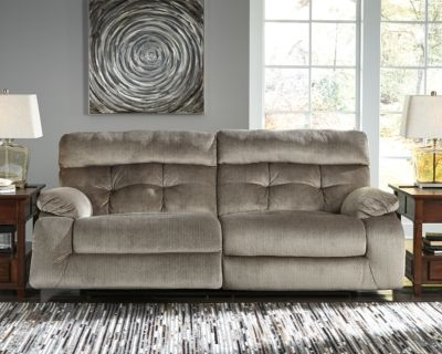 Brassville Power Reclining Sofa By Ashley Homestore Graystone