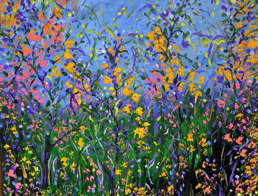 Wildflower Pictures   Wildflower Garden Painting
