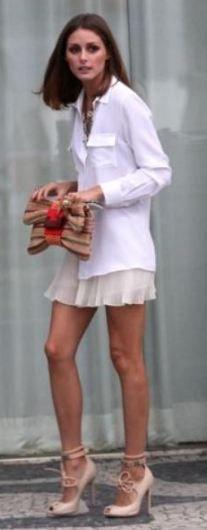 Shirt – Marc Jacobs, Skirt – Top shop, Shoes – Giambattista Valli, Purse – Julia Parker (2011)