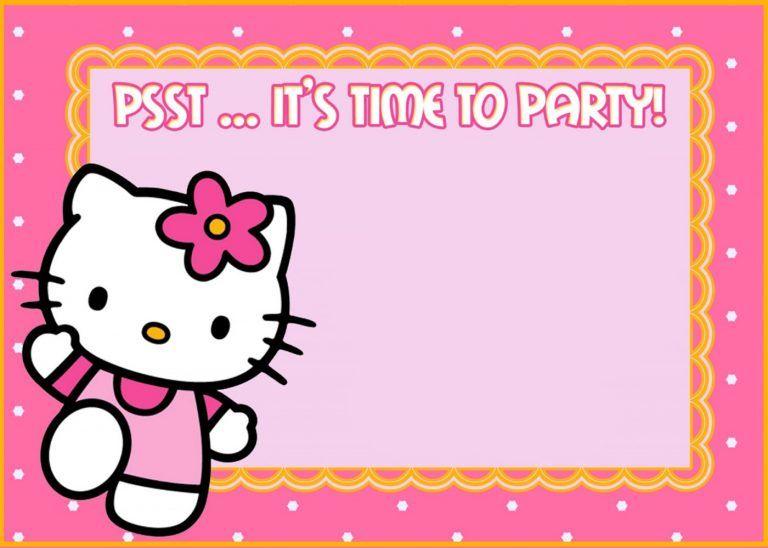 Free Hello Kitty Party Invitation Hello Kitty Invitations Hello Kitty Invitation Card Hello Kitty Birthday Invitations
