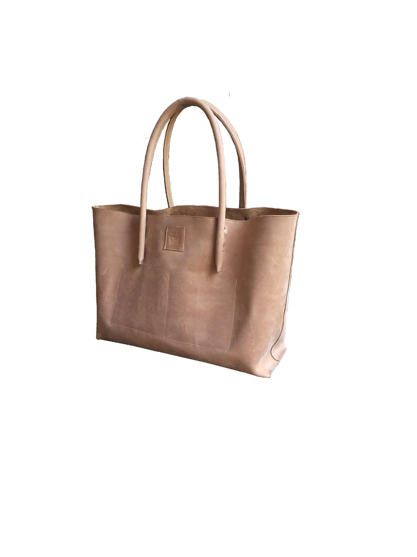 18865c1c29015 große Ledertasche Shopper Ledershopper Einkaufstasche Ledereinkaufstasche  Tasche Naturleder Vintage - Design handmade von Goldtaschen auf Etsy