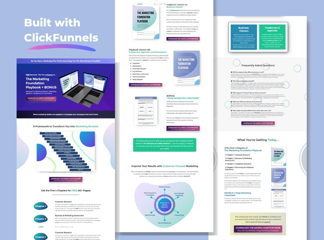 Marketing Agency Funnel Landing Page Example Designed Using Click Funnels Templates Designs With Custo In 2020 Sales Funnel Design Landing Page Examples Agency Website