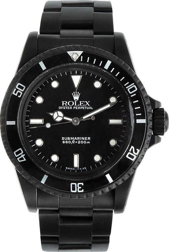 5ac21039a7e3 Black Limited Edition - Matte Black Limited Edition Rolex Submariner 5513    SSENSE - i MUST have