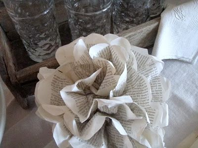 . . . Cabin & Cottage : About Those Paper Flowers. . .