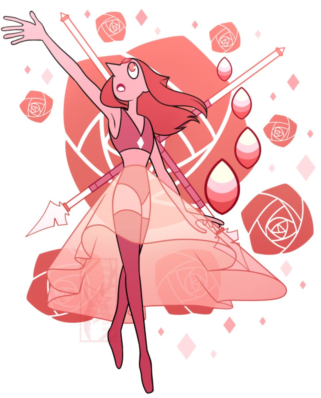 Coral Pearl Steven universe gem, Character inspiration