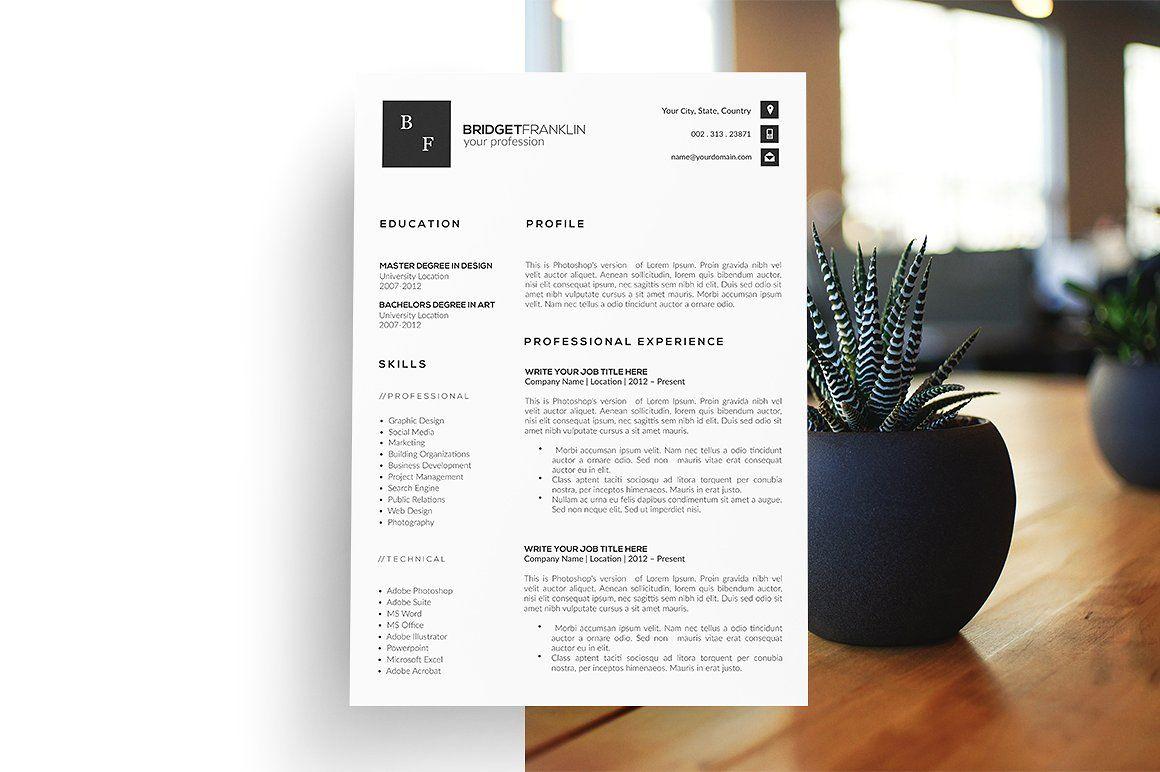 Resume Template. CV Template. Resume Resume template, Cv