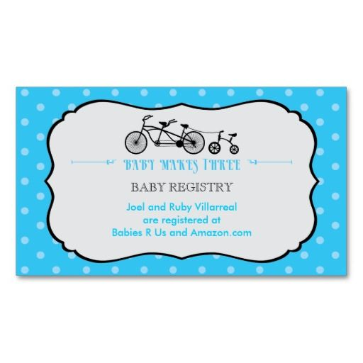 Tandem Bicycle Baby Shower Registry Card Zazzle Com Bicycle