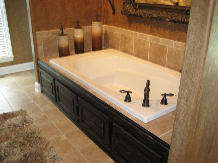 astounding bathroom tub tile ideas | Amazing Master Bath Tub! Dark Side Paneling and Gorgeous ...