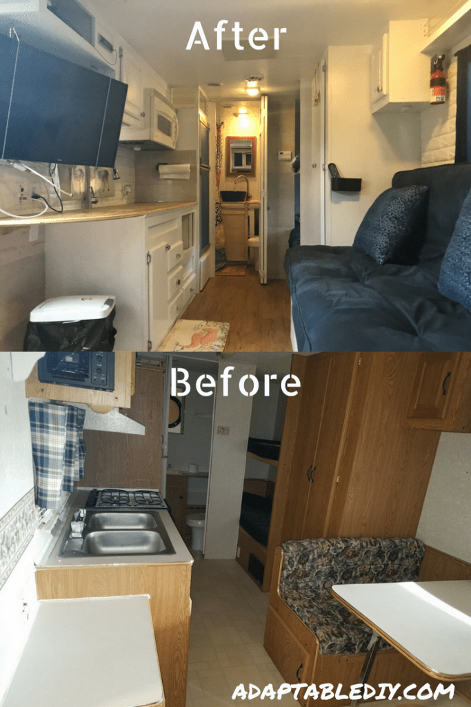 Admirable Amazing Rv Living Renovation Including A Dinette Conversion Home Interior And Landscaping Oversignezvosmurscom