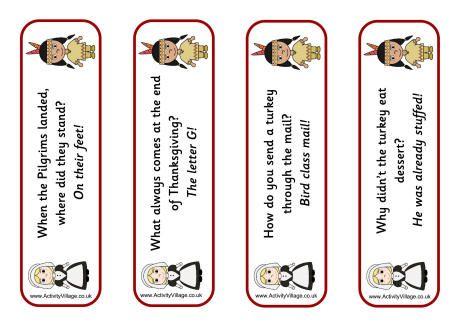 Thanksgiving jokes bookmarks 2 | Thanksgiving Crafts ...