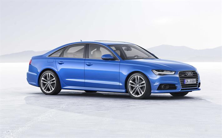 Download Wallpapers Audi A6 2018 Facelift A6 C7 Business Class Sedan Blue A6 German Cars Audi Besthqwallpapers Com In 2020 Audi Audi A6 Sedan