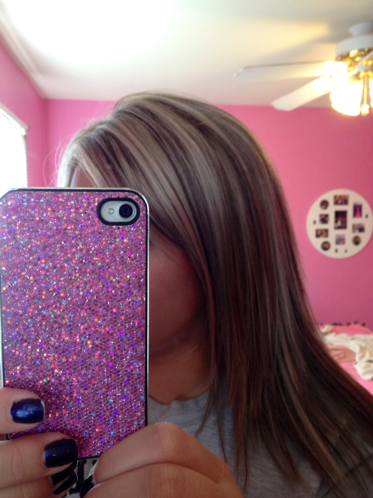 Deep red violet lowlight with blonde highlight done by angelica