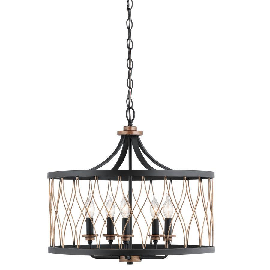 Shop Kichler Lighting Brookglen 20.47-in W Black And Suede