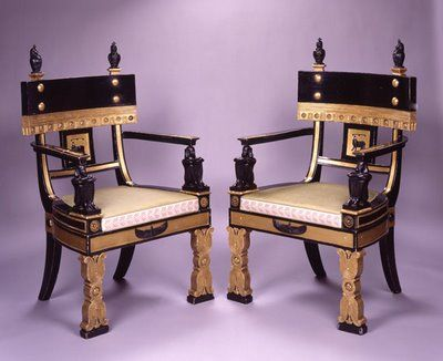 Egyptian Revival Chairs By Thomas Hope?