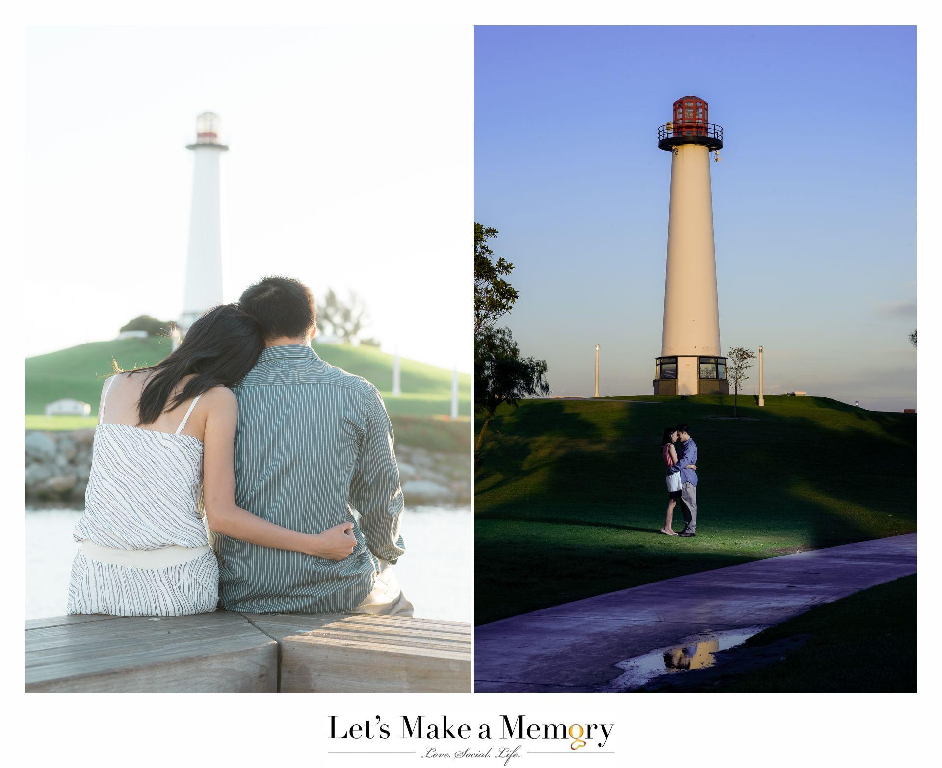 Long beach lighthouse wedding  Vanessa and Ken PreWedding Engagement  Lets Make A Memory